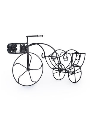 Iron Rickshaw Planter (L:23.2in, W:6.5in, H:13in)