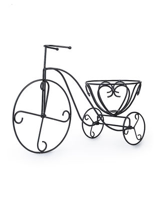 Iron Tricycle Planter (L:23in, W:8.5in, H:14in)