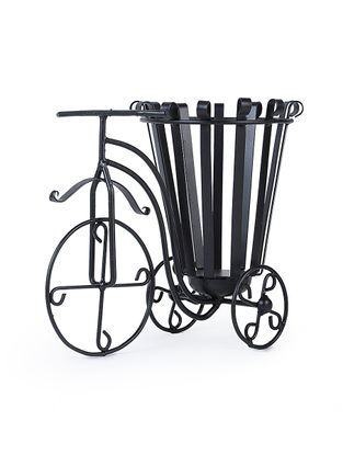 Iron Tricycle Basket Planter (L:14in, W:7.7in, H:11in)