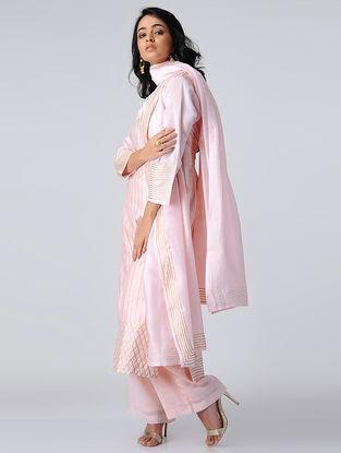 Pink Chanderi Silk Kurta with Gota Work
