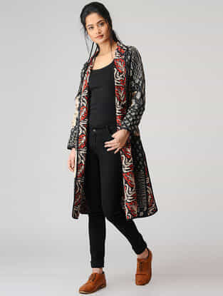 Black Printed Cotton Jacket