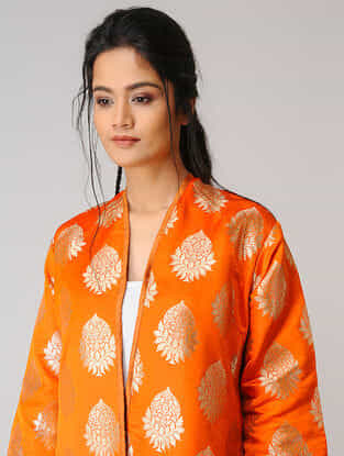 Orange Silk Jacket
