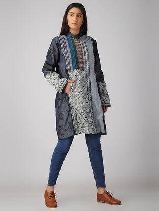 Blue Cotton-Denim Jacket