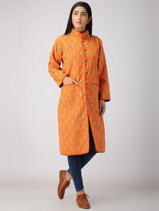 Orange-Blue Ikat Cotton Jacket
