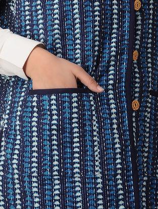 Blue Block-printed Cotton Jacket