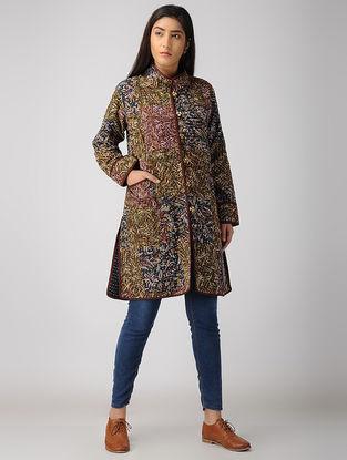 Multicolor Kalamkari Cotton-Cotswool Jacket