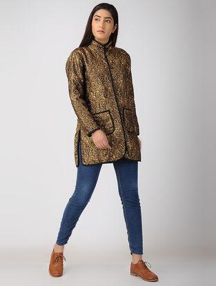 Brown Brocade-Wool Jacket