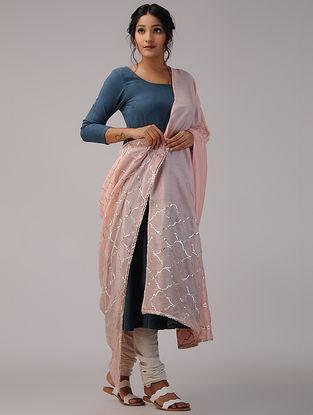Pink Chanderi Dupatta with Gota Patti Work