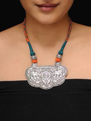 Orange-Teal Thread Necklace