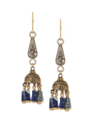 Blue Handcrafted Beaded Jhumkis