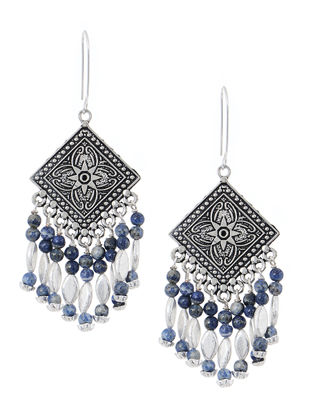 Blue Handcrafted Beaded Earrings