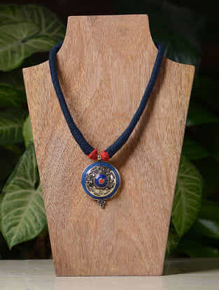 Multicolored Handcrafted Thread Tribal Necklace