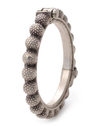 Vintage Tribal Hinged Opening Silver Bangle (Bangle Size -2)
