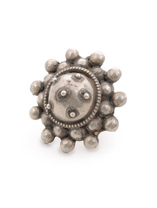 Vintage Tribal Silver Ring (Ring Size -8)