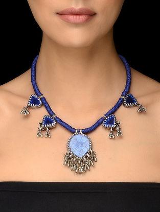 Blue Thread Vintage Silver Necklace