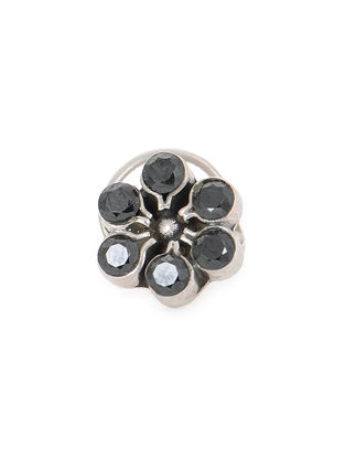 Black Silver Nose Pin