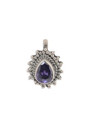 Purple Silver Nose Pin