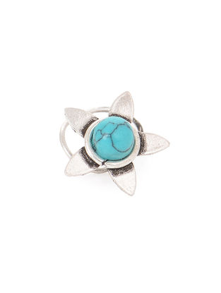 Turquoise Silver Nose Pin