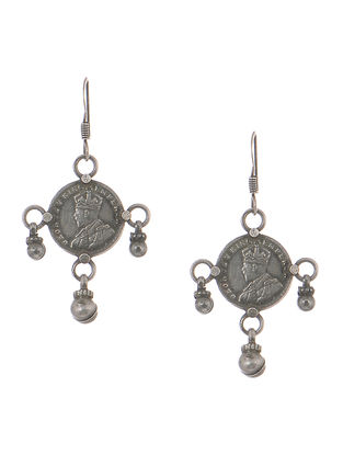 Tribal Silver Earrings with Coins
