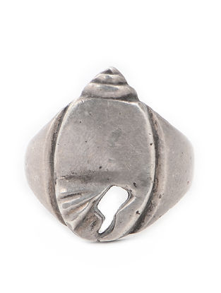 Tribal Silver Ring (Ring Size -7)