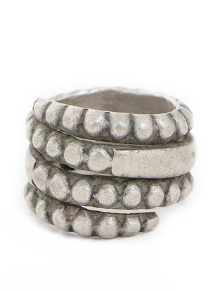 Tribal Silver Ring (Ring Size -3.5)