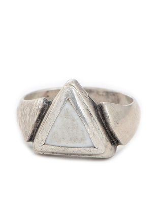 Tribal Silver Ring (Ring Size -10)