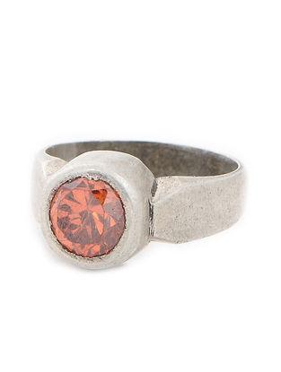 Orange Silver Ring (Ring Size -6)