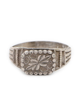 Tribal Silver Ring (Ring Size -7.5)