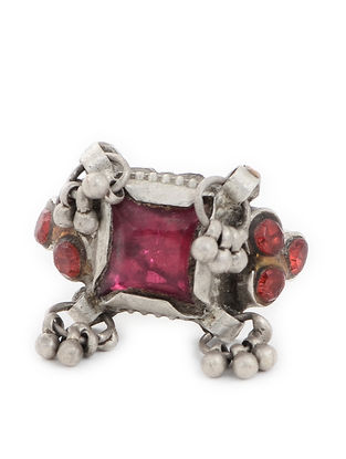 Pink Tribal Silver Ring (Ring Size -3.5)