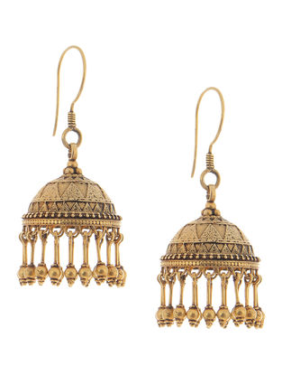 Tribal Gold Jhumkis