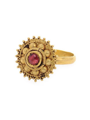 Ruby Gold Ring (Ring Size -7)