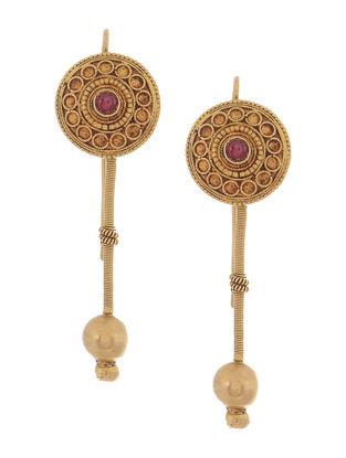 Ruby Gold Earrings