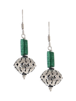 Jade Silver Earrings