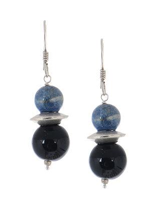 Onyx-Lapis Silver Earrings