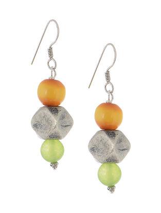 Kerva-Prehnite Silver Earrings