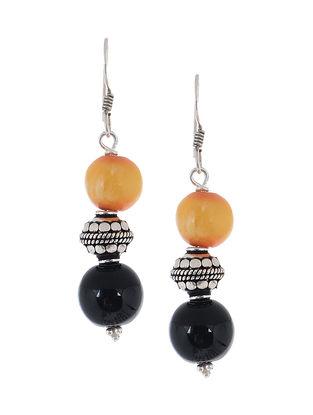 Onyx-Kerva Silver Earrings