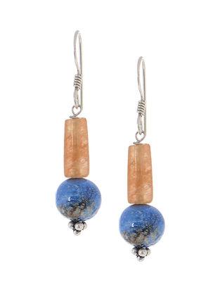 Lapis-Jade Silver Earrings