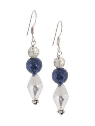Rutile-Jade Silver Earrings