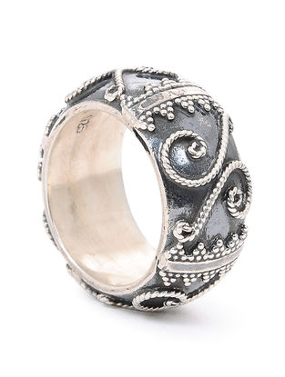 Tribal Silver Ring (Ring Size -10.5)