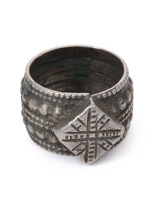 Tribal Silver Ring (Ring Size -8)