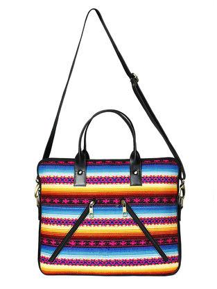 Black-Multicolored Jacquard Laptop Bag