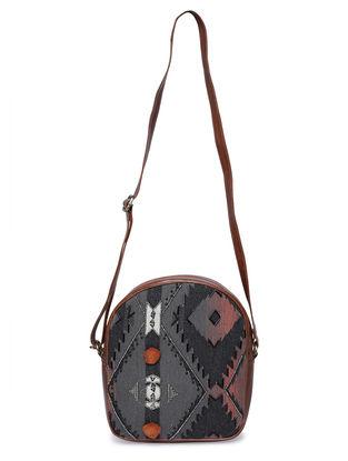 Multicolored Jacquard Sling Bag