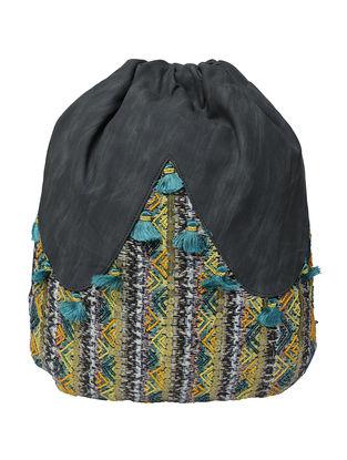 Black-Multicolored Jacquard Back Pack