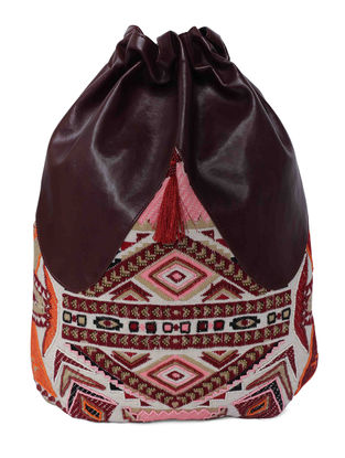 Multicolored Jacquard Back Pack