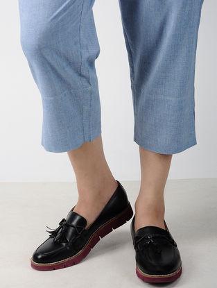Indigo Elasticated Waist Handwoven Cotton Pants