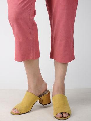 Peach Elasticated Waist Handwoven Cotton Pants
