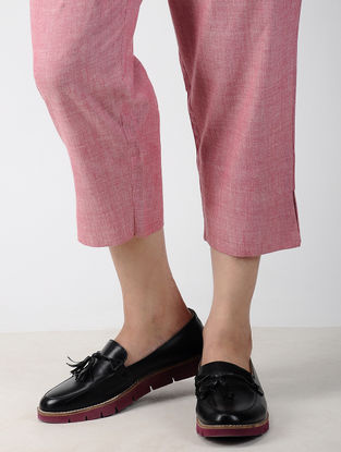 Pink Elasticated Waist Handwoven Cotton Pants