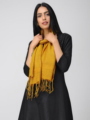 Yellow Natural-dyed Mulberry Silk Stole