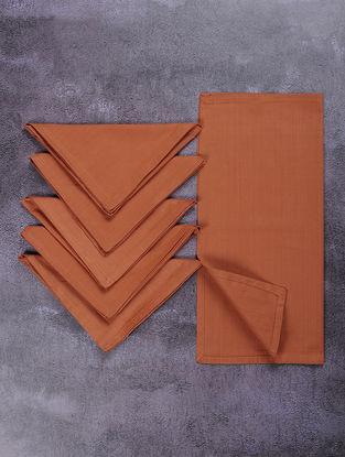 Rust Cotton Table Napkins (Set of 6)