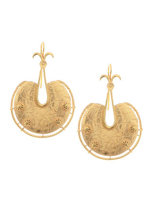 Gold Rhodium-plated Silver Earrings